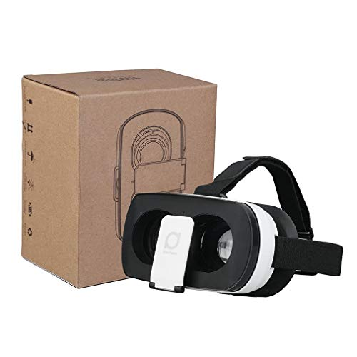 Find Bargain 3D VR Virtual Reality Headset Glasses V3 Black & White Rubber Brace T Head Strap Washab...