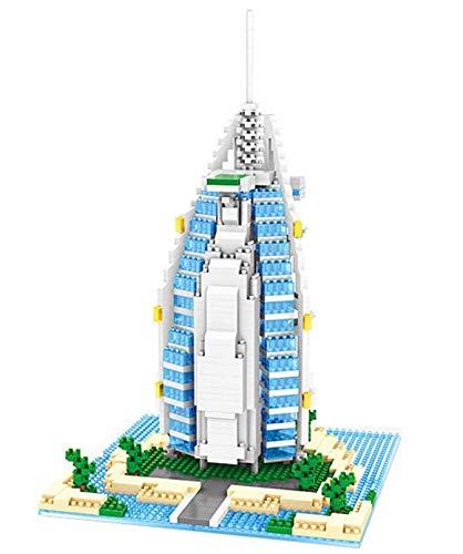 RSVT Mini Arquitectura De La Ciudad Conjuntos De Bloques De Construcción - World Famous Collection Model Kits Construction Educational DIY Regalo,Sailing Hotel
