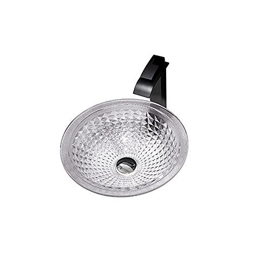 Fregadero de baño Fregadero de vidrio con grifo y empotrar el combo de drenaje, sobre el fregadero de recipiente de tazón de tazón de vanidad para el gabinete de lavabo ( tamaño : B 6 piece set )
