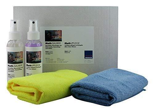 CLEANPRODUCTS CLEANHOME Set Matt-Sauber + Matt-Pflege - Pflegeset für Matte Küchen-Oberflächen + Möbel-Oberflächen - zur Küchenpflege + Möbelpflege