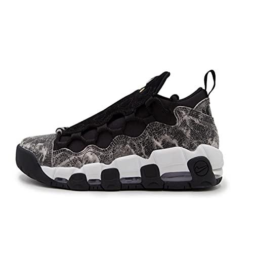 Nike W Air More Money LX, Scarpe da Ginnastica Basse Donna, Multicolore (Black/Black/Summit White/Mtlc Pewter 001), 41 EU