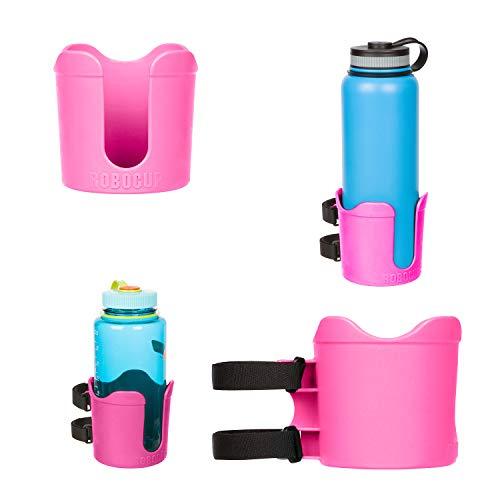 Robocup Plus Porte-gobelet avec rallonge XL 95 mm pour Nalgene, HydroFlask, Yeti, Contigo, Camelbak, tasses, verres à vin, verres à vin et gobelets, rose vif