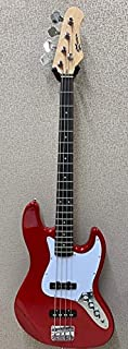 Effin Guitars Model EJB//BK Vintage Style Jazz Bass 4-String Electric Bass Guitar