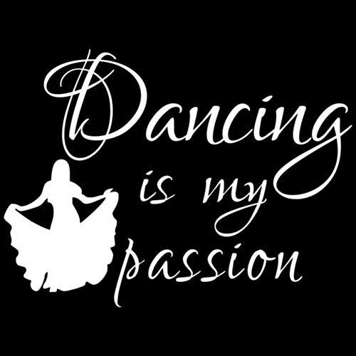 DYTE Auto Aufkleber 13,5 cm * 10 cm Tanzen Ist Meine Leidenschaft Schöne Tänzerin Mädchen Auto Aufkleber Schwarz Silber