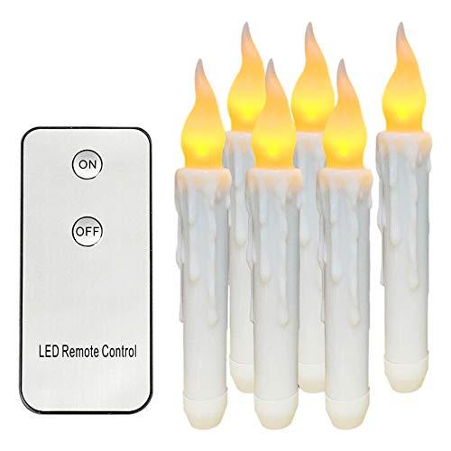 Preisvergleich Produktbild Atcket Kerzen,  17, 8 cm Fernbedienung,  flammenlos,  aus Kunstharz,  für den Innen- und Außenbereich,  inklusive Fernbedienung,  6 Stück gelb