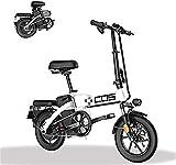Bicicleta Eléctrica Bicicleta eléctrica plegable de montaña inteligente, para adultos, rango de potencia 280 km de bicicleta extraíble 48V / 28.8Ah Batería de iones de litio con 3 modos de montar bate