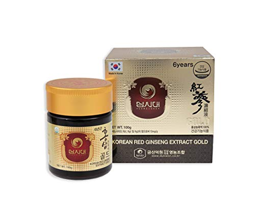 Ginseng Rosso Coreano Estratto Oro 100g – per 3 Mesi – la Migliore Qualità di Ginseng Rosso Coreano – la Più Alta Concentrazione Possibile di Ginsenosidi Rg1, Rb1, Rg3  13mg/g