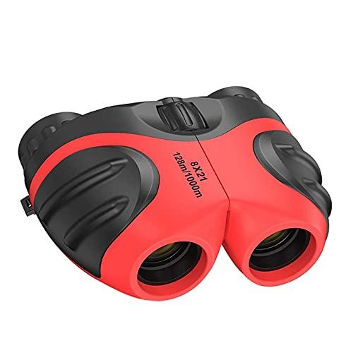 IPOTCH Binoculares de plástico Regalos para niños para juguetes binoculares compactos 8x21 Telescopio para niños de 3 a 12 años Observación de aves, viajes, rojo