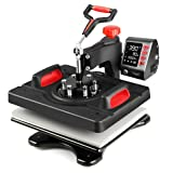 TUSY Upgraded Heat Press, 12''x15'' Intelligent Heat Press Machine, Memory Function for 3 Modes, Digital Swing Away Sublimation Heat Press Machine for T-Shirt, Pillow