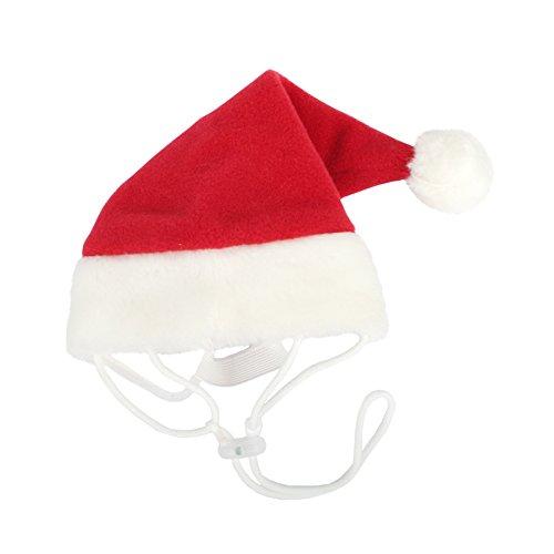 Puppia PDDF-SH23-RDL Hunde Weihnachtsmütze, L, rot