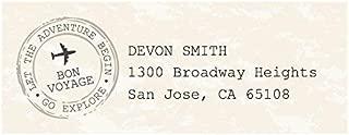 Custom World Awaits - Personalized Travel Themed Party Return Address Labels - Set of 30
