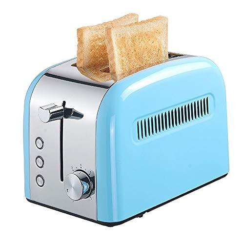 Compact Broodrooster, Multifunctionele Toaster, Huishoudelijke Toaster, Extra Wide Slot, 7 Brood Instellingen, Cancel/Ontdooien/opwarmen Functie, uitneembare kruimellade (Color : Blue)