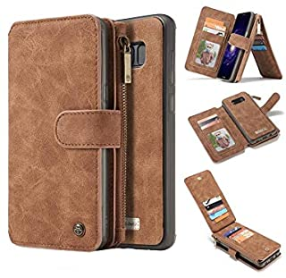 Multifunction phone case for Samsung Galaxy Note 8 anti fall cover with 14 Card Slots and wallets Brown