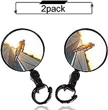 Bike mirror, 2pcs bike rear view mirrors with Wide Angle Convex Mirror, Adjustable Rotatable Handlebar for Mountain Bike, Off-Road Bike and Fixed Gear Bike Handlebars