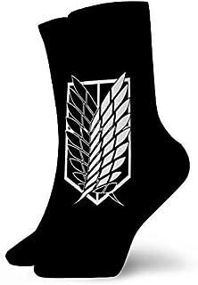 AEMAPE, Anime Wings of Freedom A-Ttack On Ti-Tan Calcetines de Senderismo para Mujer Calcetines para Caminar al Aire Libre
