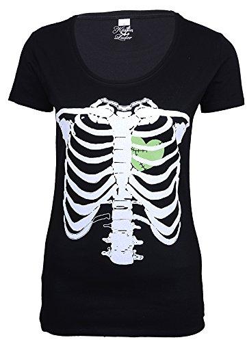 Küstenluder Punk ZOMBIE HEART Bones KNOCHEN Shirt Rockabilly - 6