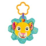 LAMAZE Disney Lion King Clip & Go Nala Rattle Baby Toy with Stoller Clip for Sensory Play