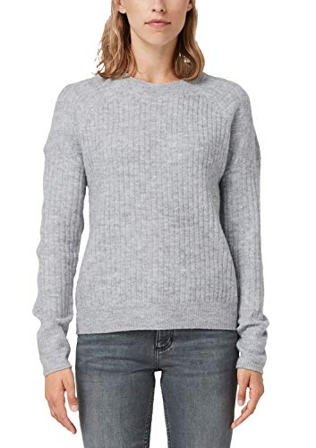 Q/S designed by - s.Oliver Damen 41.909.61.2673 Pullover, Grau (Grey Melange 9400), 38 (Herstellergröße: M)