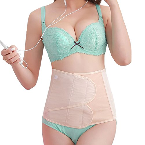 Picotee Women Postpartum Belly Band Girdle Belly Wrap Abdominal Binder C section C-section Recovery Postnatal Support Belt (L, Nude Postpartum Belly Wrap)
