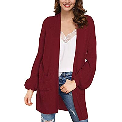 Amazon - Save 60%: LaSuiveur Women's Open Front Pockets Long Knited Cardigan Sweaters