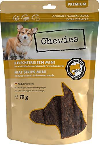 Fleischstreifen MINI Hundeleckerli aus 100 % Rindfleisch - 70 g - Snack für kleine Hunde - luftgetrocknete Rinder Kaustreifen - hypoallergen & getreidefrei - Dörrfleisch vom Rind