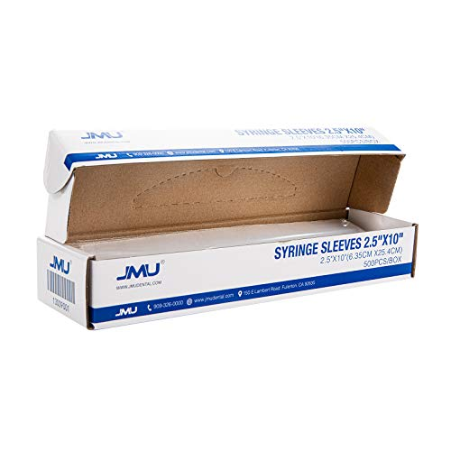 JMU Dental Air Water Syringe Sleeves with Precut Opening, Disposable Clear Plastic Protective Barrier, 2.5