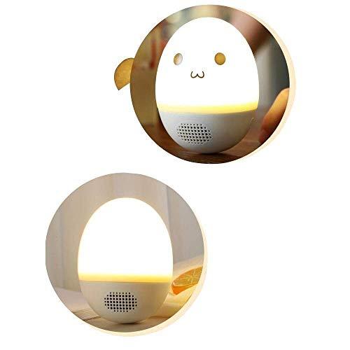 GANE Altavoces Bluetooth Vaso portátil Silicona Brillante Tacto Colorido Ligero Ligero Luz de Noche Simple Regalo para el hogar
