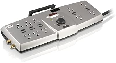 Philips SPP7355WC 10-Outlet Resettable Surge Protector (Silver)