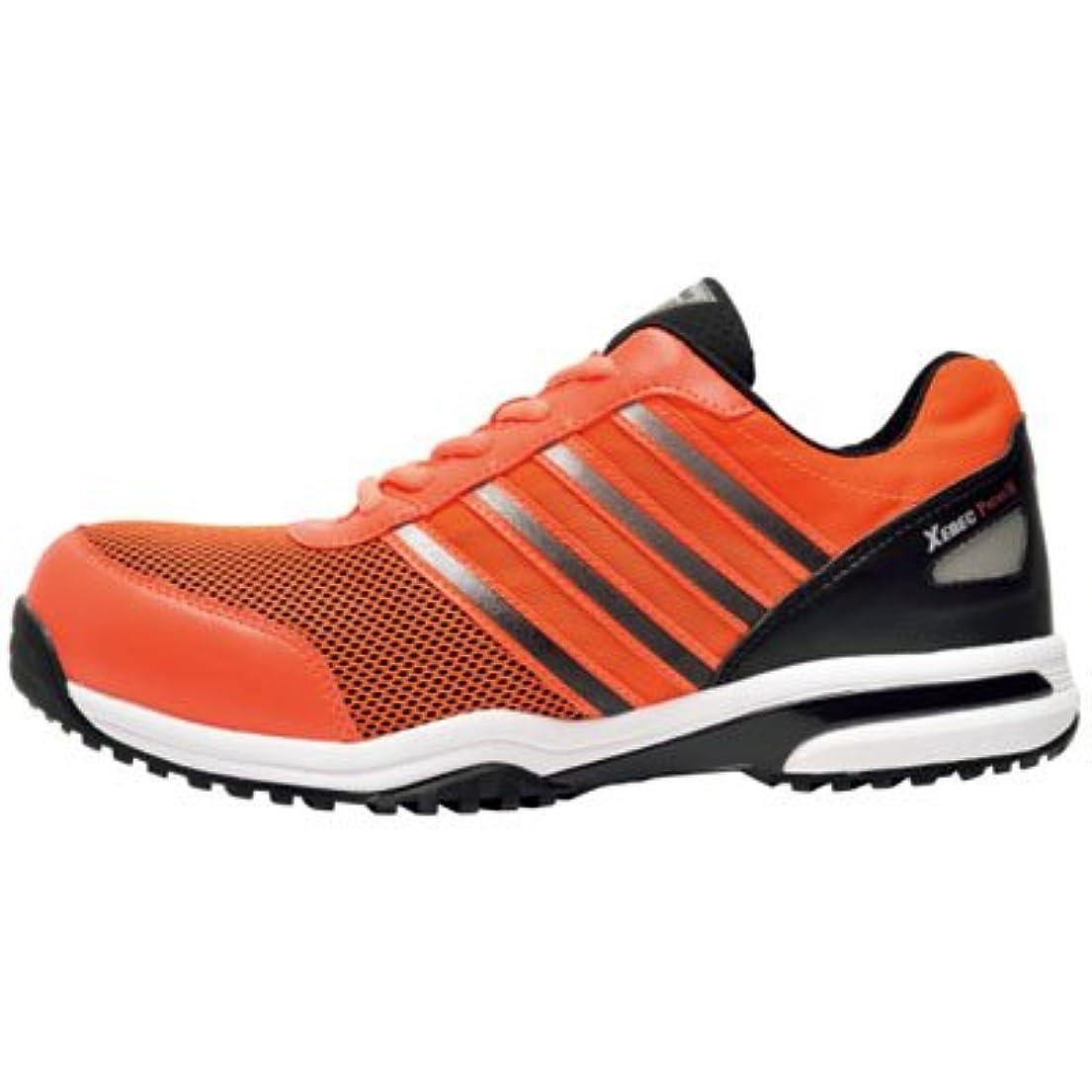 無許可セッション話をするジーベック 安全靴 プレミアムメッシュ?セフティシューズ JSAA規格 26.5cm オレンジ 85132