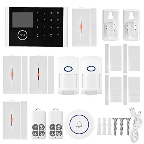 Cosiki Kit de Sensor Detector, Pantalla LCD a Todo Color más Segura, identificación de Volumen de Mascotas, Alarma de Seguridad WiFi, almacén de Oficina, Acuario para almacenes