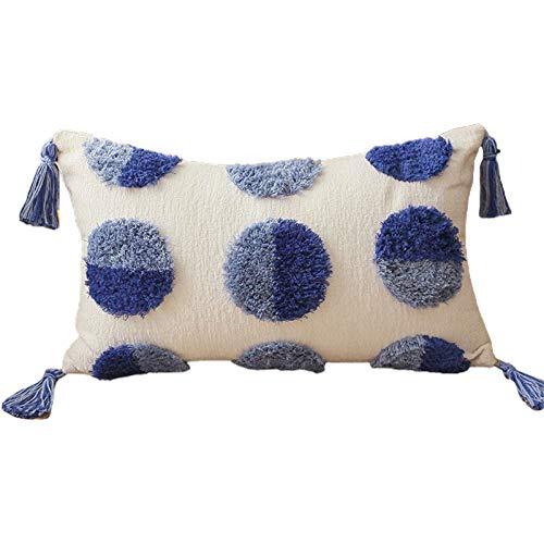 gszfsm001 - Funda de almohada geométrica esférica tejida a mano, diseño bohemio bohemio tribal de 30 x 50 cm