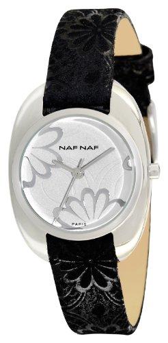 Inconnu N10222-204 - Orologio da polso da donna, cinturino in pelle colore nero