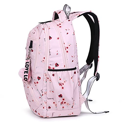 WTOPP Nueva bolsa de escuela grande lindo estudiante escuela mochila de impresión ligera mochila de viaje con caja de almuerzo impermeable escuela escuela primaria chica escuela escuela escuela