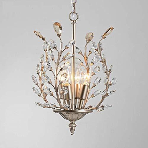 CKQ-KQ Hanglampen 4 Lights antieke kristallen kroonluchter plafondlamp Led Light Crystal Chandelier Verlichting Lamp van het Plafond kroonluchter verlichting Woonkamer Slaapkamer Restaurant Porch Chan