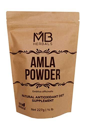 MB Herbals Pure De-Seeded Amla Powder 227 Grams | Half Pound | Amalaki | Promotes Immunity & Healthy Digestion | Non-Irradiated | Unrefined | Raw | Non-GMO | Gluten-Free | No-Preservatives