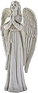 Design Toscano Divine Guidance Praying Guardian Angel Religious Garden Statue, Large, 33 Inch, Polyresin, Antique Stone