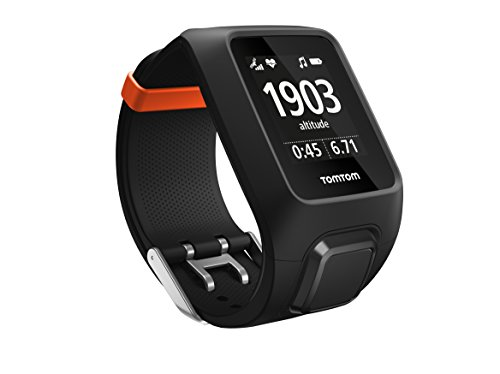TomTom Adventurer GPS Multisport Watch with Built-in Heart Rate Monitor, Music Player, Altimeter, Compass etc., Black