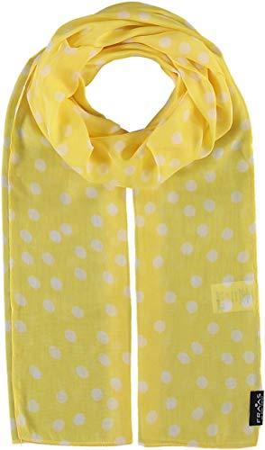 FRAAS Damen-Schal mit Punkte-Muster - perfekt für Frühling und Sommer - luftiges Mode-Accessoire Lemon