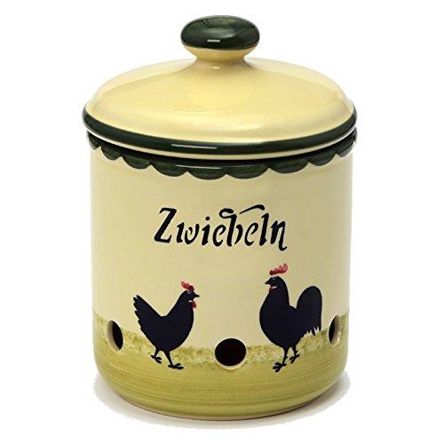 Zeller Keramik Hahn und Henne Zwiebeltopf 2 Liter