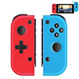 TUTUO Wireless Controllers for Nintendo Switch, Joy Con Wireless Controllers Remote Motion Joypads L/R Switch Gamepad Bluetooth Replacement Controller Campatiable for Nintendo Switch - Red and Blue