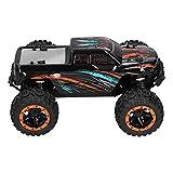 RiToEasysports RC Crawler, 4WD 2.4G HZ Control Remoto 1/16 RC Motor Sin Escobillas Potentes Ruedas De Fuerza De Agarre Modelo Recargable Coche Niños Regalo De Cumpleaños De Navidad(Negro)