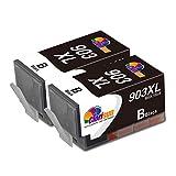 Clorisun 903 XL Cartucce d'inchiostro per HP 903 903XL 903 XL Nero Cartucce Compatibili per HP OfficeJet 6950 HP 6950 HP6950 HP OfficeJet Pro 6960 6970 HP 6960 HP 6970 All-in-One Stampante(2 Nero)