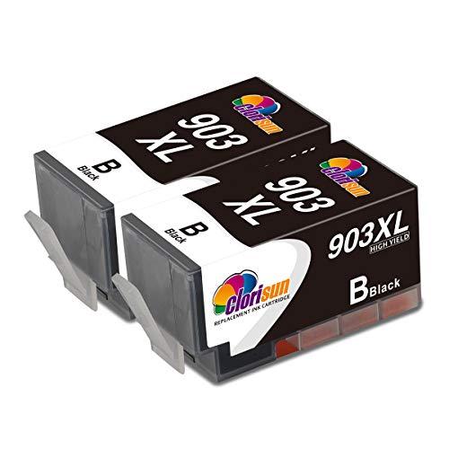 Clorisun 903XL - Cartuchos de tinta de repuesto para HP 903 XL 903XL (2 unidades), color negro