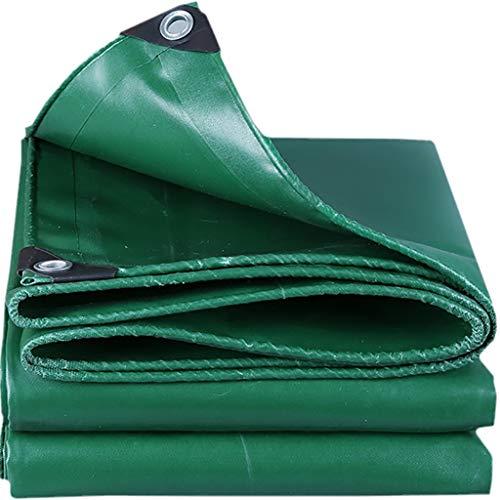 Faltbare JQQJ Verdickte Tarp Glasfaser Flammschutz Tuch Wasserdicht PVC Plane Perforierte Plane, grün