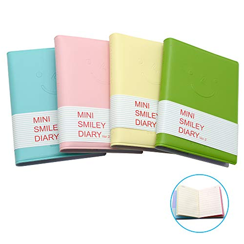 LZYMSZ 4 cuadernos de bolsillo, mini blocs de notas con cubierta de...