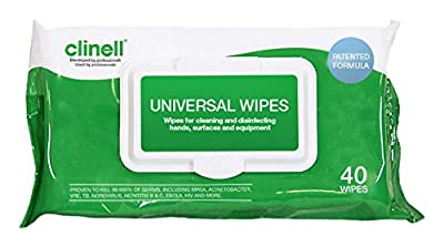 Clinell Wipes cw40universal–[Pack of 2] by Gama Healthcare