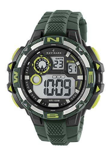 NA202 Navigare Action Digital Unterwasser-Sportuhr für Herren 50mm militär-grün