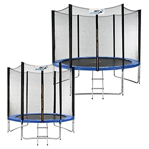 ArtSport Outdoor Trampolin Jampino Ø 305 cm – Gartentrampolin mit Sicherheitsnetz, Leiter & Randabdeckung – Kindertrampolin bis 150 kg