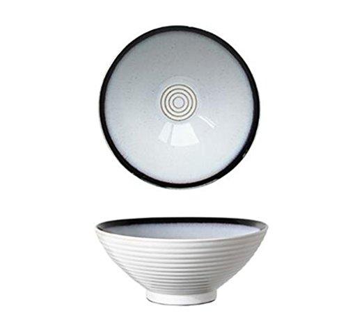 HJHY Ciotola di ramen di grandi cappelli giapponesi ciotola di spaghetti di manzo ciotola di zuppa alta retrò delle famiglie ciotola di zuppa di ceramica