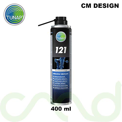 TUNAP 121 Haftschmierstoff 400 ml inkl. Schmutzschutz gratis Schützt zuverlässig vor Verschleiß und Korrosion. Auch bei drehenden oder rotierenden Teilen schleudert der Schmierfilm Nicht ab.